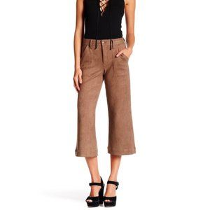 Level 99 Sally Tawny Faux Suede Culottes